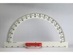 Winkelmesser 180°, Kunststoff, weiß, 50 cm