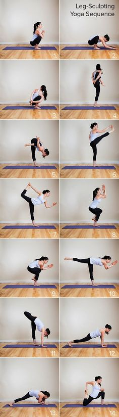 This is an excellent yoga sequence to work your thighs, hips and booty. Also a great way to focus and connect with yourself. Remember, go to where it feels comfortable. Respect your body. Always keep your abs contracted and when doing stand up poses keep the knee of the supporting leg slightly bent to protect the knee joint.