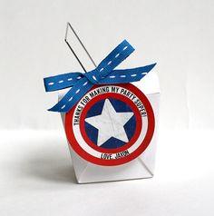 CAPTAIN AMERICA Birthday Favor Label / Tag Printable