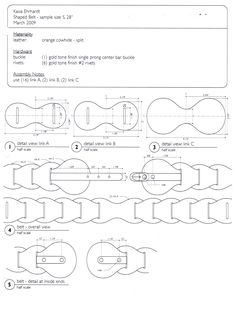 belt technical drawing