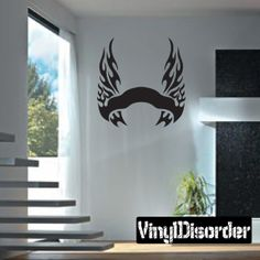 Tribal Flames Frame Wall Decal - Vinyl Decal - Car Decal - DC 100