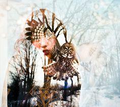 Wonderful Double Exposure Portraits by Alicia Vega