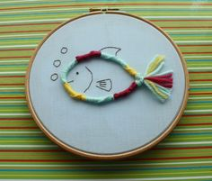 friendship bracelet fish embroidery