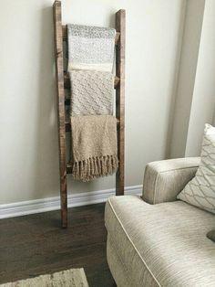 Reclaimed Wood Blanket Ladder