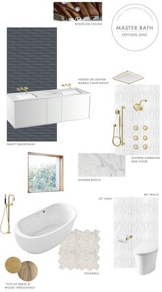 The Mountain House: Master Bathroom Design Process - Emily Henderson Bathroom Window Decor, Pirate Bathroom Decor, Modern Bathroom, Master Bathroom, Wet Rooms, Bathroom Interior Design, Interior Doors, Bath Design, Bathroom Inspiration