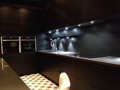 Schmidt kitchen - kitchendesign - black kitchen - dark interiors - tilepattern - topcer - dark interiors - vintage interior - loft style