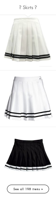 """""""☾ Skirts ☽"""" by na-ri ❤ liked on Polyvore featuring skirts, bottoms, white, striped skirt, pleated skirt, white pleated skirt, striped pleated skirt, stripe skirt, textured skirt and white skirt"""