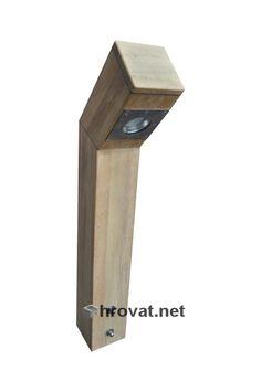 Mizarstvo Hrovat - Wooden teak garden lamp - Lesena vrtna luč iz Tikovine http://www.hrovat.net/izdelki/lesene-vrtne-luci-2/lesena-vrtna-luc-iz-tikovine/