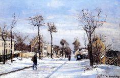 Rue enneigée, Louveciennes Camille Pissarro