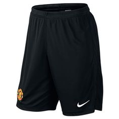29.95 - Nike Manchester United Squad  13- 14 Replica Longer Soccer Shorts  (Black  White) -  c52739b9d89