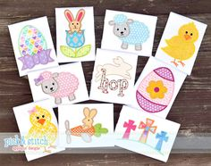 2016 Easter Applique Set. 10 designs. Everything you need for Easter.