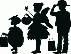Silhouette Online Store - View Design #66570: trick or treater silhouettes