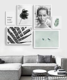 Gallery wall beach wall art set of 6 prints printable set Printable Gallery Wall printable set 6