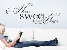 Mit dem Wandtattoo Sweet home kannst Du Deine Wand kreativ gestalten.