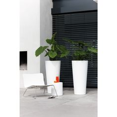 Elho Pure Straight Round high bloempot | Fundesign.nl