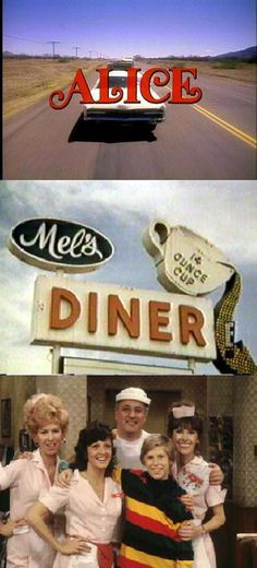 "Alice, Starring Linda Lavin, Mel Sharples (Vic Tayback), Florence Jean ""Flo"" Castleberry (Polly Holliday), Vera Louise Gorman (Beth Howland), and Tommy (Philip McKeon)"
