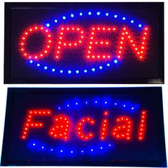 Animated Facial SPA Beauty Salon Parlor LED & Bright Open Business SIGN neon…