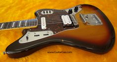 2002 crafted in Japan Fender Jaguar body with a Seymour Duncan Jazz Blues humbucker and buzz stop bar.