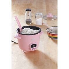 Mini Rice Cooker ($29) via Polyvore featuring home, kitchen & dining, small appliances, rice cooker, urban outfitters, rice maker, rice machine and mini rice cooker