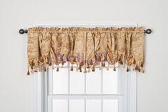 "Amazon.com - HLC.ME Florence Jacquard Window Treatment Curtain Austrian Valance - 54"" x 18"" inch Long (Gold) -"