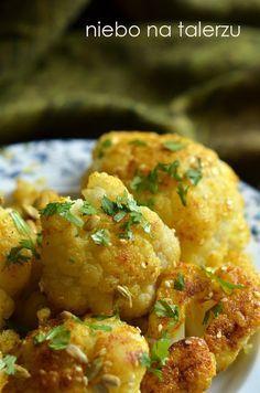 niebo na talerzu: Kalafior smażony. Pomysł na kalafior w czosnku i curry
