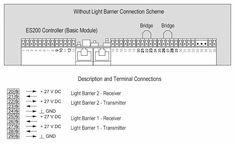 Dorma ES200 Wiring Diagram One Light Barrier Connection
