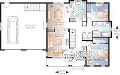 Détail du plan de Maison unifamiliale W3242-V2