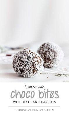 Raw Choco Bites With Oats and Carrots