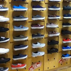 5af2b7ad51 Most wonderful shelf of shoes in the world.