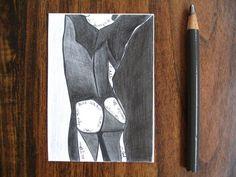 Eternity  aceo mini print 2.5 x 3.5  pencil by penciledbynicole