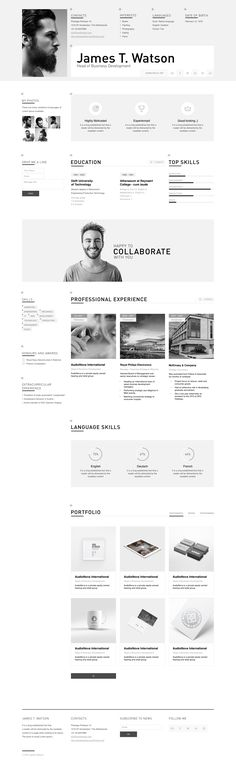 Watson CV Resume template for Sketch by neuethemes on - resume template website
