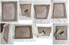 Cornice: cartapesta modellata, color sabbia. Per foto 10x15. Posizionabile in verticale e in orizzontale. Da tavolo e da muro. Materiale: carta di riciclo, spago, fettuccia di cotone, velcro, minuteria metallica, plastica