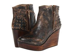 Hello Beautiful! Perfect Wedge Trend  with a Tarnished Brown & Black Hue... Perfect For Any Outfit Going Forward! Transform this Cute Bootie Wedge into Spring (You will be seeing spring dresses with this look!)