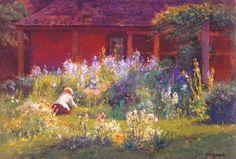 Selma in the Garden - T. C. Steele