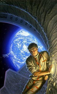 ☆ Daetrin -Detail By Artist Michael Whelan ☆ Space Fantasy, Sci Fi Fantasy, Art Pulp, Dragonriders Of Pern, Hybrid Art, 70s Sci Fi Art, Retro Futuristic, Science Fiction Art, American Artists