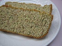 Gluten-free, dairy-free, low-carb zucchini bread.