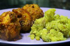 Terapia do Tacho: Almondegas de peru com esmagada de batata doce (Turkey meatball with sweet potato mash)