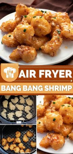 Air Fried Shrimp Recipe, Air Fryer Recipes Shrimp, Buffalo Shrimp Recipes, Spicy Shrimp Recipes, Seafood Recipes, Bang Bang Sauce Recipe, Sweet And Spicy Shrimp, Sweet Chili Chicken, Bang Bang Shrimp