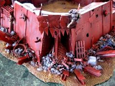Orks create an extraodinary amount of rubbish which they dump just out of reach. in this way their homes extend and are protected, and damp shady regions are created for their spores to gestate away from trampling feet.