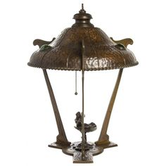 An Unusual Art Nouveau Copper Table Lamp   From a unique collection of antique and modern table lamps at http://www.1stdibs.com/furniture/lighting/table-lamps/