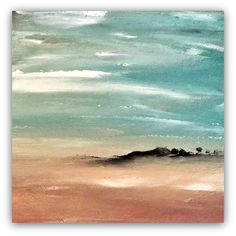 "ARTFINDER: Terra 2, Landscape Gift Series by Jessica Sanders - Serenity and peacefulness are the heart of this landscape.  ""Terra 2"" is a minimal impressionism style acrylic painting on 6x6x1.5"" archival canvas.    Sides..."