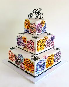 Hand Painted by Creative Cakes - Tinley Park, via Flickr