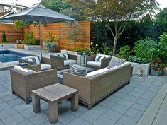 Patio, Cedar Garden Design Calimesa, CA Design Patio, Modern Garden Design, Modern Design, Design Tropical, Cedar Garden, Outdoor Furniture Sets, Outdoor Decor, Cabin Homes, Super Simple