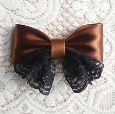 Handmade DIY recommended, the handmade DIY-heap Sugar Network Ribbon Hair Bows, Diy Hair Bows, Diy Bow, Bow Hair Clips, Ribbon Embroidery Tutorial, Diy Embroidery, Newborn Hair Bows, Diy Crafts Love, Diy Clothes And Shoes