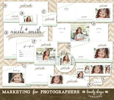 Photography Marketing Templates Branding Set for photographers and boutique business Logo Business Card Instant Download. $40.00, via Etsy.