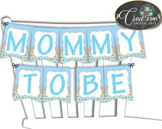 Little Lamb Blue Baby shower CHAIR BANNER boy blue printable theme printable with sheep, digital files, Jpg Pdf, instant download - fa001 #babyshowerparty #babyshowerinvites