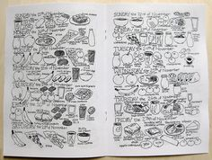kids' journaling activity: draw all the food you ate for the day/week/month