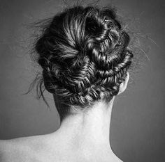 Twisted fishtails- so pretty! Fishtail Updo, Knot Braid, Down Hairstyles, Wedding Hairstyles, Elegant Wedding Hair, Beautiful Goddess, Let Your Hair Down, Long Locks, Hair Looks