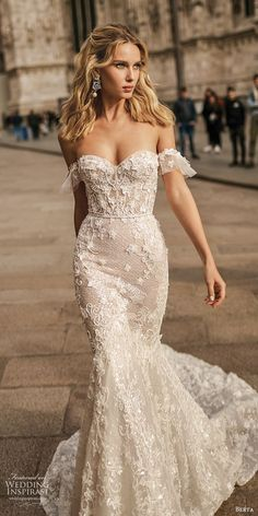 berta spring 2020 bridal off shoulder sweetheart fully embellished lace trumpet ., berta spring 2020 bridal off shoulder sweetheart fully embellished lace trumpet . berta spring 2020 bridal off shoulder sweetheart fully embellished. Wedding Reception Outfit, Wedding Dresses 2018, Wedding Dress Trends, Princess Wedding Dresses, Bridal Dresses, Wedding Ideas, Event Dresses, Wedding Attire, Beaded Wedding Dresses