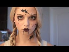 Creepy Doll Makeup Tutorial - YouTube
